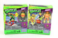 Mega Bloks Teenage Mutant Ninja Turtles Raph Skate Training & Mikey Nunchuk NEW