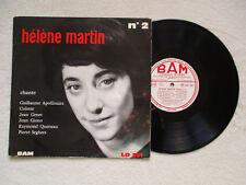 """LP 33T 25CM HELENE MARTIN """"Récital n°2"""" BAM LD 391 FRANCE §"""