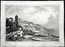 SCIACCA - SICILIA - AGRIGENTO - LITOGRAFIA - CUCINIELLO E BIANCHI - 1830/33