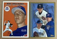 Roy Halladay Topps #264 RC Rookie Card Blue Jays Fleer lot