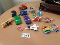 Joblot Of Pixar and other Diecast Cars and planes Metal and plastic Used bundle