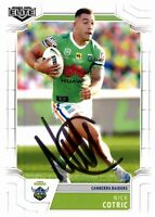 ✺Signed✺ 2020 CANBERRA RAIDERS NRL Card NICK COTRIC