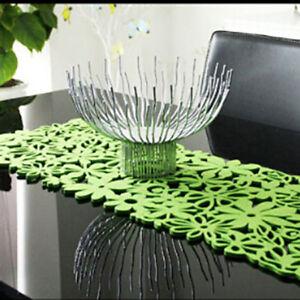 Home Kitchen Felt Tablecloth Runner Placemats Table Mats Decor LL