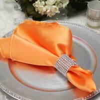 50Pcs Wedding Party Napkin Rings Buckle Diamond Rhinestone Banquet Chair Decor