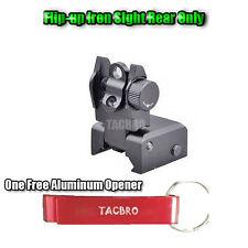 Picatinny rail Flip Up Iron Sight, Black Rear Only w/ One Free Aluminum Opener