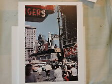 1955 Times Square New York City NYC Taxi 8x10 Modern Reprint color photo