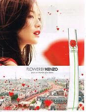 PUBLICITE ADVERTISING 065  2014  KENZO  parfum femme FLOWER BY