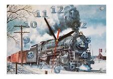 """Tolle Motiv Wanduhr, Größe 30 x 21cm """" Eisenbahn Nostalgie Motiv 3 """""""
