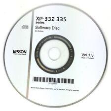 CLONE XP-332 XP-335 XP332 XP335 SERIES EPSON PRINTER SOFTWARE DRIVER DISC CD DVD