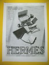 PUBLICITE DE PRESSE HERMES ARTICLES FUMEURS BRIQUET PIPES AGENDA 1931
