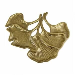 Lotus Leaf Gold Metal Decorative Plate