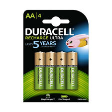 4 Pack Duracell AA Rechargeable Batteries DURALOCK Pre/Stay Charged 2500mAh