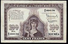 New Caledonia 100 Francs 1942 P-44 * VF *