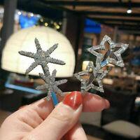 Charm Women Hair Clips Stick Barrette Hairpin Hair Accessories Crystal Snowflake
