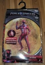 Red Power Rangers Halloween Costume XL Adult Mens Cosplay BRAND NEW
