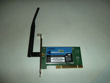 Linksys Wireless-G PCI 32-Bit LAN Adapter 54Mbps 2.4GHz 802.11b/g WEP WPA WMP54G