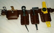 Scaffold Leather Tools  Belt Set With Tools 100 % Genuine Leather