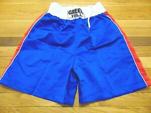 UNWORN GREEN HILL BLUE BOXING SHORTS SIZE M kickboxing fighting