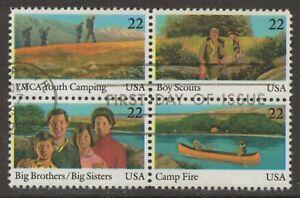 Scott #2160-63 Used Block of 4, International Youth Year