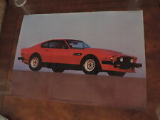 OLD 1984 ASTON MARTIN VANTAGE AUTOMOBILE CAR POSTER free shipping