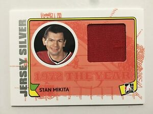 2009-10 ITG 1972 THE YEAR IN HOCKEY JERSEYS SILVER #M26 STAN MIKITA /30