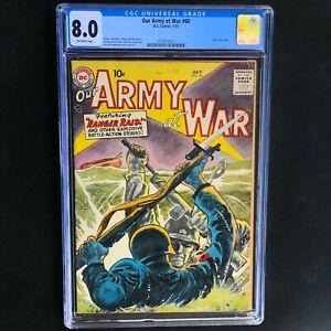 """OUR ARMY at WAR #60 (1957) 💥 CGC 8.0 💥 GREY TONE COVER """"Ranger Raid"""" DC Comics"""