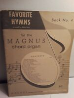 Favorite Hymns for the Magnus Chord Organ Book 4 Sheet Music Adele Scott