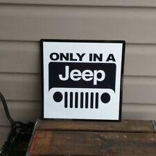 "Jeep Metal Sign Wrangler 4x4 Garage Mopar Parts Mechanic Shop 12x12"" 50108"