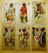Set of 6 Victorian Trade Cards 1881 ANTHROPOMORPHIC Dressed Monkeys CREME SOAP