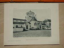1911 Friedhofsgebäude in Regensburg, Heinrich Hauberrisser. Druck à ca. 38x29cm,