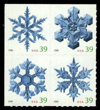 2006 39c Christmas Snowflakes, Block of 4 Scott 4113-4116 Mint F/VF NH