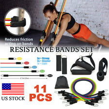 11Pcs Resistance Bands Set Home Workout Exercise Yoga Crossfit Fitness Training