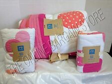 Pottery Barn PB Teen Kids Dottie Bed Bedroom Quilt Full Queen F/Q Standard Shams