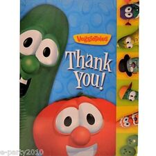 VEGGIE TALES THANK YOU NOTES (8) ~ Birthday Party Supplies Religious Stationery