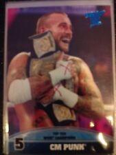 2013 Topps Best of WWE Top Ten WWE Champions #5 CM Punk