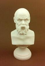 Socrates Alabaster sculpture statue bust founder of western philosophi artifact