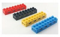 BUILDING BRICK USB PORT 4 COLOURS TO CHOOSE FROM BRAND NEW GREAT GIFT