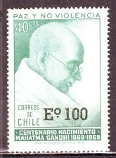 Chile(South America)-Gandhi Eo 100 Over Print on 40 cts MNH Condition Stamp #G02