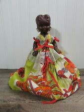 Martinique Plastic Girl Doll Vintage Doll Ethnic Caribbean