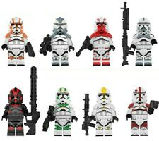 Jet Clone Troopers (set of 8) Mini-figures. Star Wars. Lego Compatible - NEW