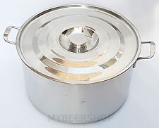 35L COMMERCIAL WIDE STOCK POT WITH LID STAINLESS STEEL SAUCE HOME BREW BEER