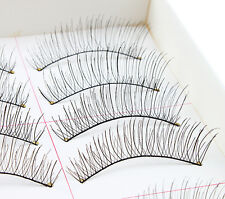 10 Pairs Natural Long Black Eyelashes Soft Handmade  Makeup Fake False Lashes