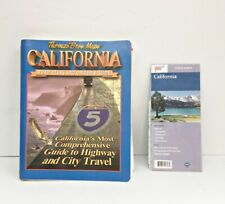 Thomas Bros Maps California Book Road Atlas Drivers Guide 1997 + AAA State Map