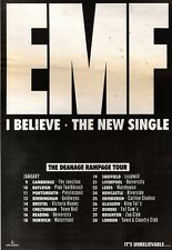 26/1/91 Pgn14 Advert: Emf New Single i Believe & Deanage Rampage Tour 10x7