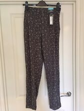 M&S Grey Mix Pattern Tapered Trousers Size 14L