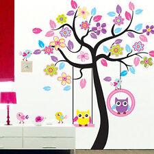 Owl  Animals Tree Removable Wall Decal Sticker Kid Baby Nursery Room Decor USA