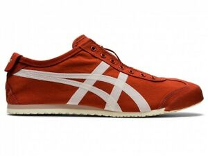 Asics Onitsuka Tiger MEXICO 66 SLIP-ON 1183B603 RUST RED/BIRCH With Shoe Bag
