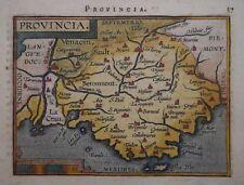 FRANCE - PROVENCE. PROVINCIA BY ORTELIUS CIRCA 1601. ORIGINAL COLOUR.