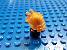 LEGO-MINIFIGURES SERIES X 1 GOLD SAMURAI HELMET WITH HOLDER NEW PARTS