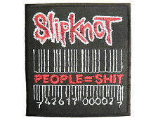 SLIPKNOT Barcode People = Sh** Embroidered Iron On Shirt Bag Badge Patch